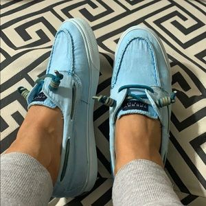 SPERRY TOP SIDER - Pastel Blue boating sneaker 8.5